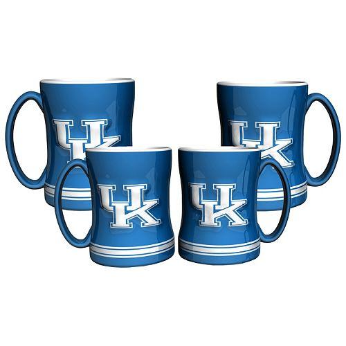 Kentucky Wildcats 4-pk. Sculpted Relief Mug