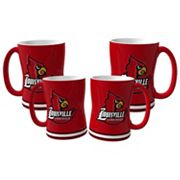 Louisville Cardinals 4 pkSculpted Relief Mug