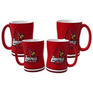 Louisville Cardinals 4-pk. Sculpted Relief Mug