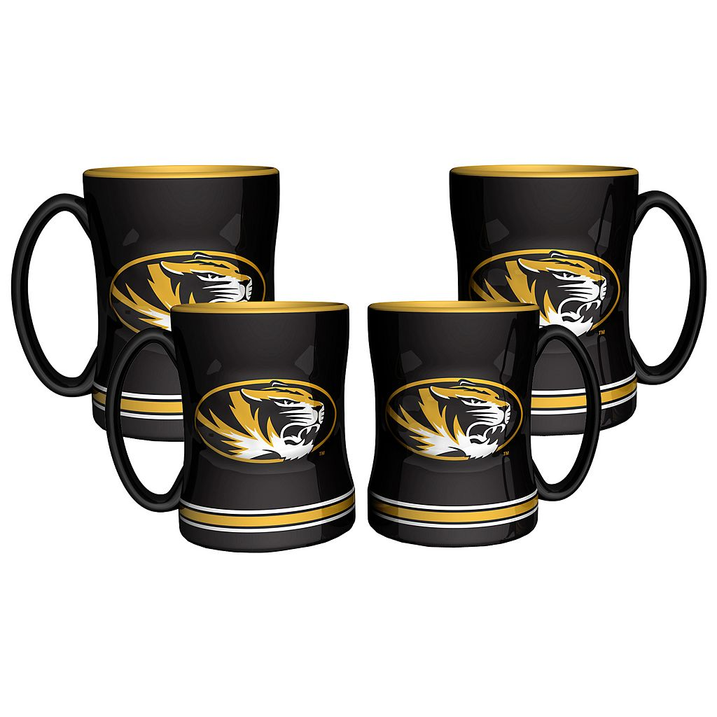 Missouri Tigers 4-pk. Sculpted Relief Mug
