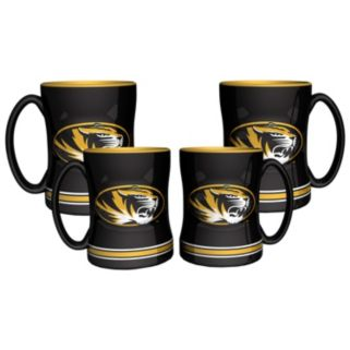 Missouri Tigers 4-pk. Sculpted Relief Mug