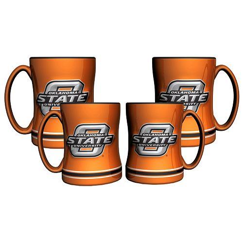 Oklahoma State Cowboys 4-pk. Sculpted Relief Mug