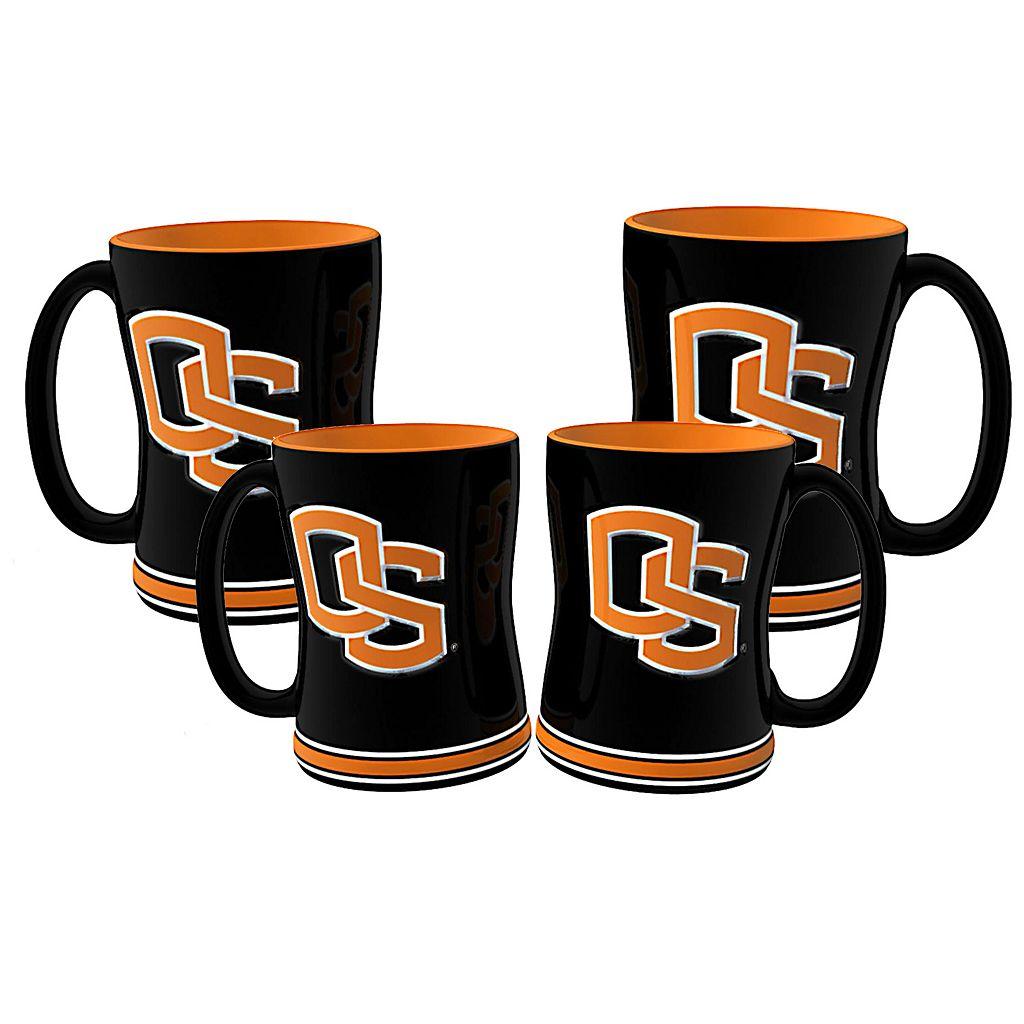 Oregon State Beavers 4-pk. Sculpted Relief Mug