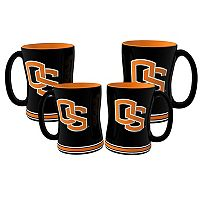 Oregon State Beavers 4 pkSculpted Relief Mug