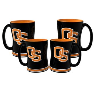 Oregon State Beavers 4-pk. Sculpted Relief Mug