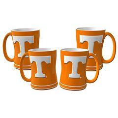 Tennessee Volunteers 4 pkSculpted Relief Mug