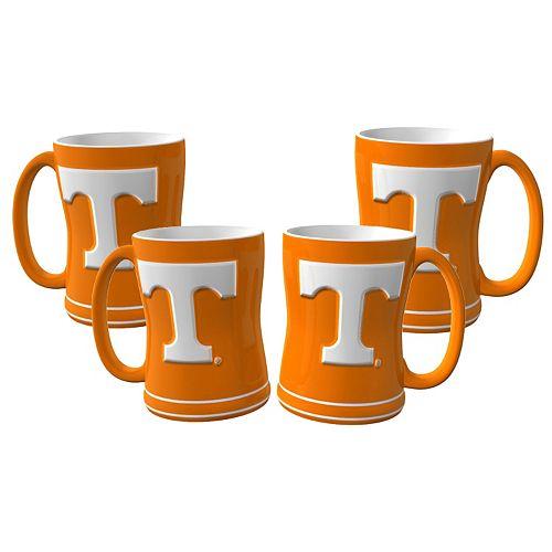 Tennessee Volunteers 4-pk. Sculpted Relief Mug