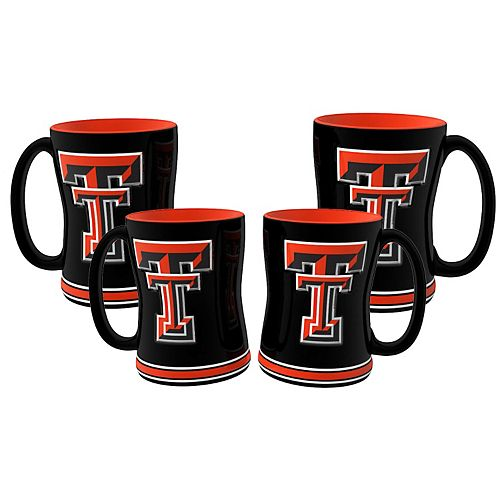 Texas Tech Red Raiders 4-pk. Sculpted Relief Mug
