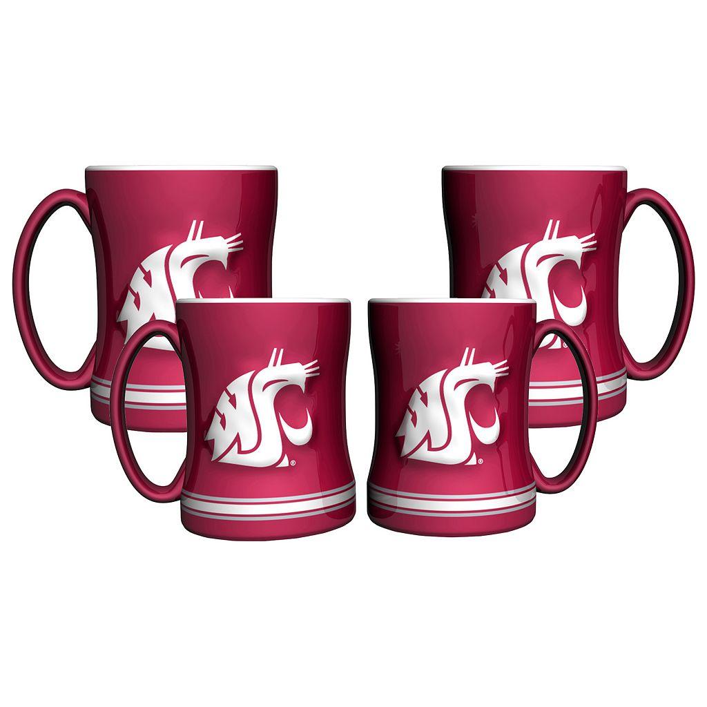 Washington State Cougars 4-pk. Sculpted Relief Mug