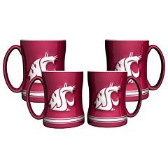 Washington State Cougars 4 pkSculpted Relief Mug