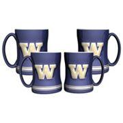 Washington Huskies 4 pkSculpted Relief Mug