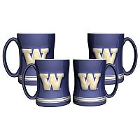 Washington Huskies 4-pk. Sculpted Relief Mug