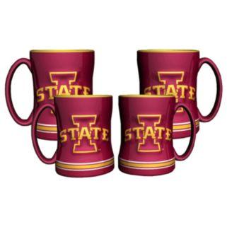 Iowa State Cyclones 4-pk. Sculpted Relief Mug