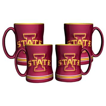 Iowa State Cyclones 4-pk. Sculpted Relief Mug