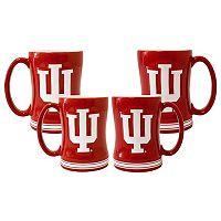 Indiana Hoosiers 4 pkSculpted Relief Mug