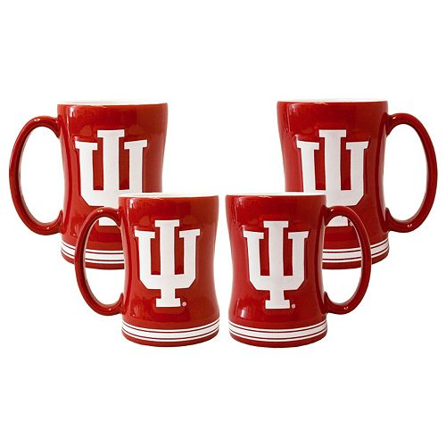 Indiana Hoosiers 4-pk. Sculpted Relief Mug