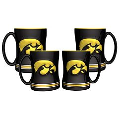 Iowa Hawkeyes 4 pkSculpted Relief Mug