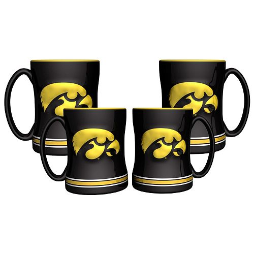 Iowa Hawkeyes 4-pk. Sculpted Relief Mug