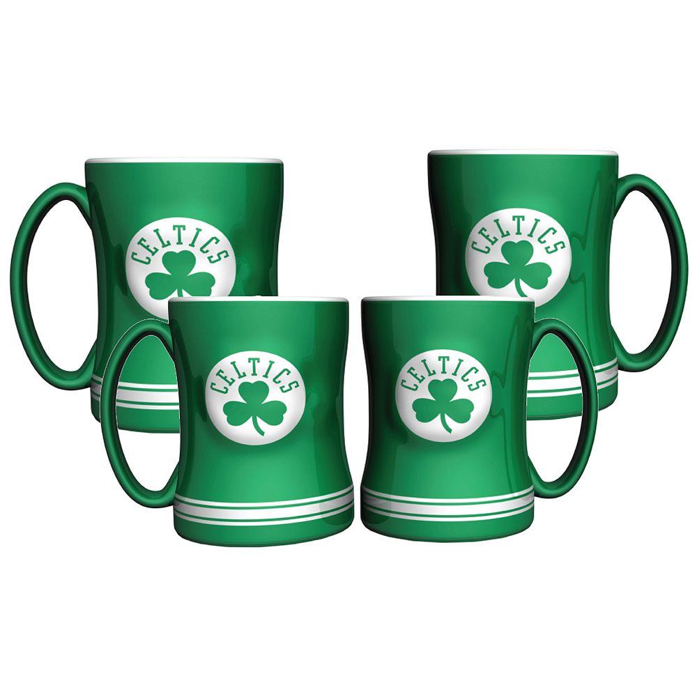 Boston Celtics 4-pk. Sculpted Relief Mug