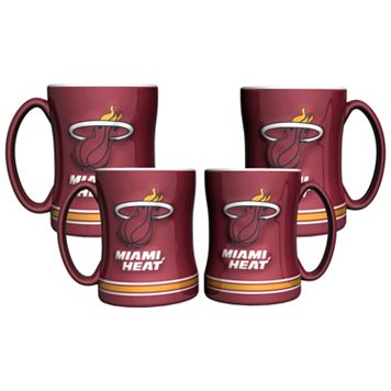 Miami Heat 4-pk. Sculpted Relief Mug