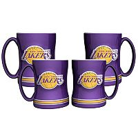 Los Angeles Lakers 4-pk. Sculpted Relief Mug