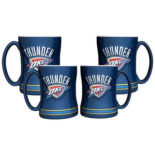 Oklahoma City Thunder 4-pk. Sculpted Relief Mug
