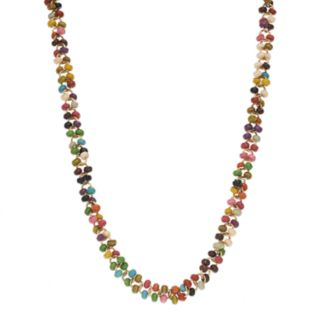 Mudd® Gold Tone Seed Bead Long Necklace