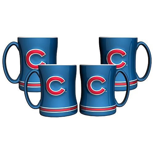Chicago Cubs 4-pk. Sculpted Relief Mug