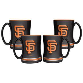 San Francisco Giants 4-pk. Sculpted Relief Mug