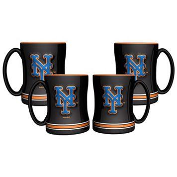 New York Mets 4-pk. Sculpted Relief Mug