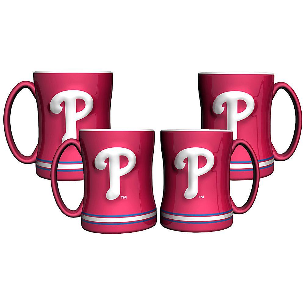Philadelphia Phillies 4-pk. Sculpted Relief Mug