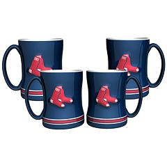 Boston Red Sox 4-pk. Sculpted Relief Mug