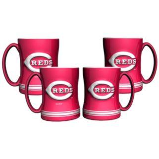 Cincinnati Reds 4-pk. Sculpted Relief Mug
