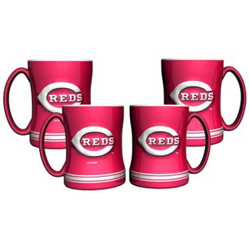 Cincinnati Reds 4-pk. Sculpted Relief Mug