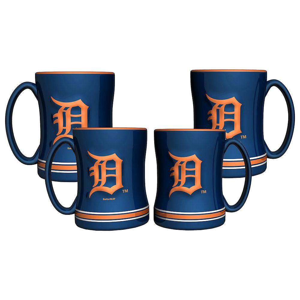 Detroit Tigers 4-pk. Sculpted Relief Mug