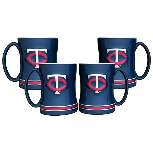 Minnesota Twins 4-pk. Sculpted Relief Mug