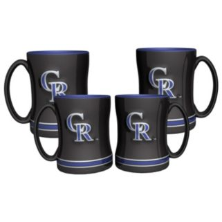 Colorado Rockies 4-pk. Sculpted Relief Mug