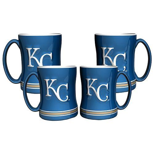 Kansas City Royals 4-pk. Sculpted Relief Mug