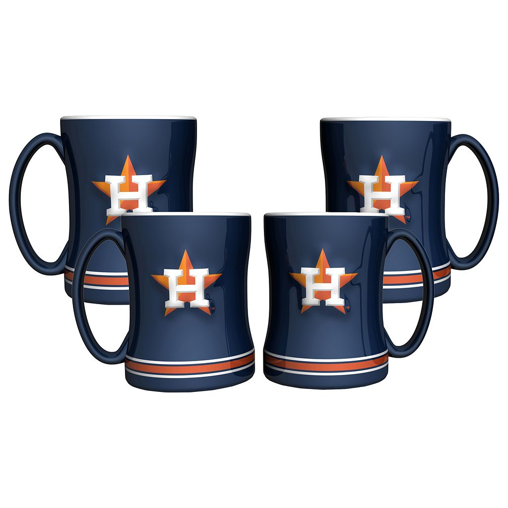 Houston Astros 4-pk. Sculpted Relief Mug