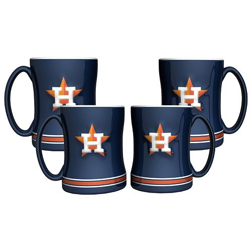 Houston Astros 4-pk. Sculpted Relief Mug