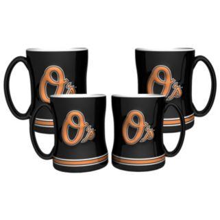 Baltimore Orioles 4-pk. Sculpted Relief Mug