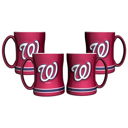 Washington Nationals 4-pk. Sculpted Relief Mug