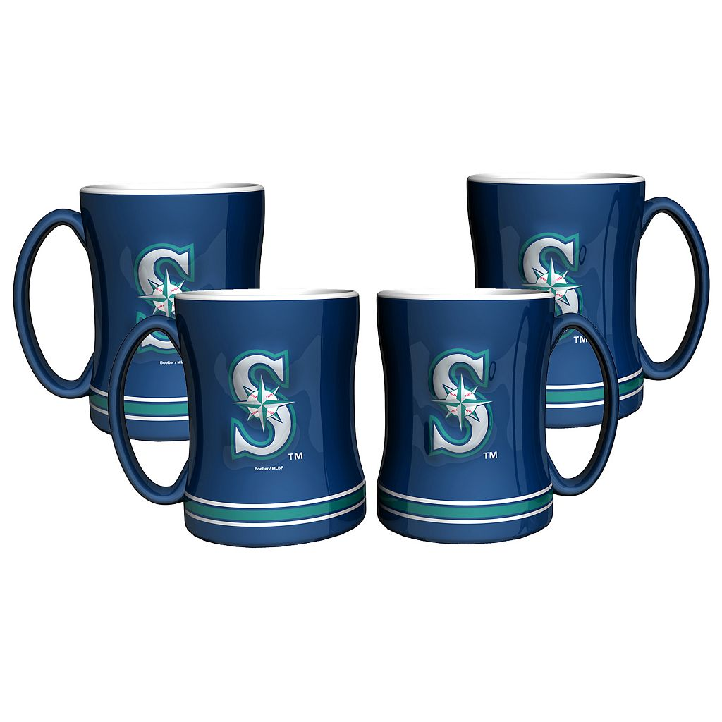 Seattle Mariners 4-pk. Sculpted Relief Mug