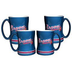Atlanta Braves 4-pk. Sculpted Relief Mug