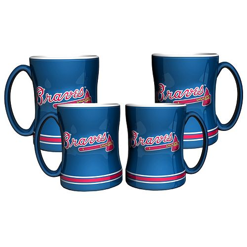 Atlanta Braves 4-pk. Sculpted Relief Mug