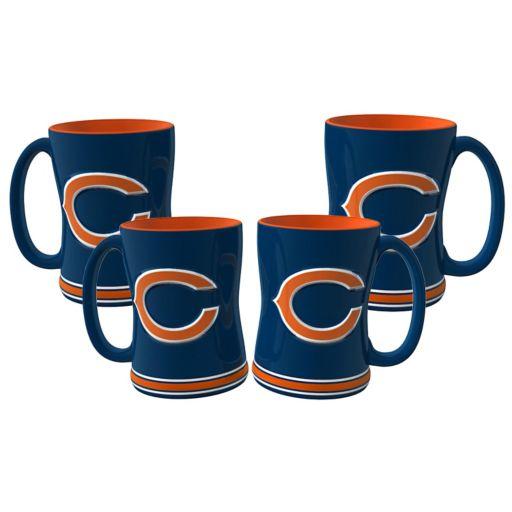 Chicago Bears 4-pk. Sculpted Relief Mug