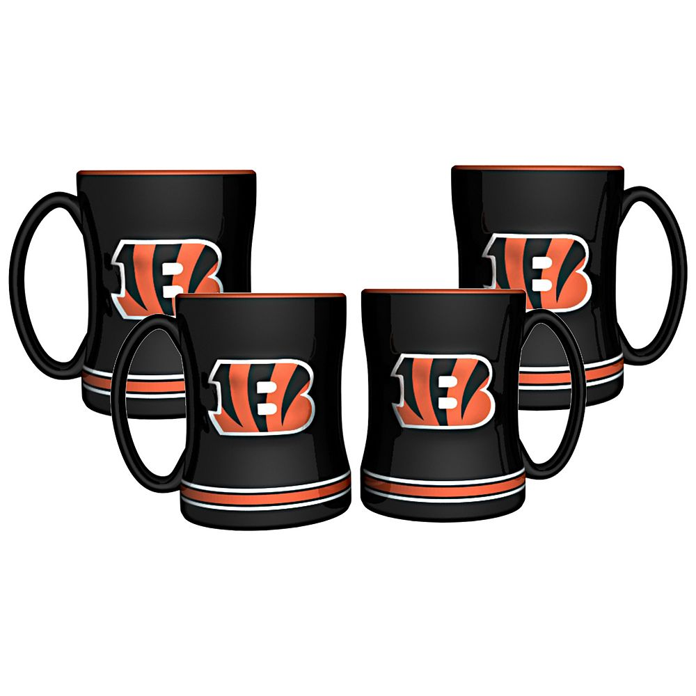 Cincinnati Bengals 4-pk. Sculpted Relief Mug