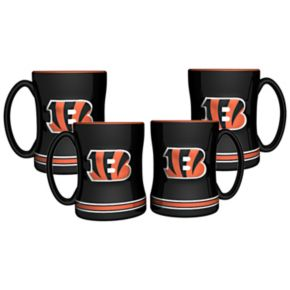 Cincinnati Bengals 4-pk. Sculpted Relief Mug