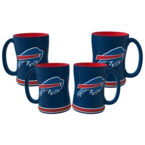 Buffalo Bills 4-pk. Sculpted Relief Mug