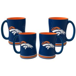 Denver Broncos 4-pk. Sculpted Relief Mug